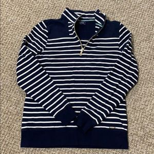 Striped Izod long sleeve pullover